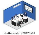 isometric 3d illustration set... | Shutterstock .eps vector #763123534