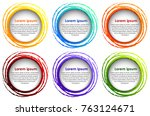round border template in six... | Shutterstock .eps vector #763124671