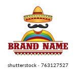 template of vector of sombrero... | Shutterstock .eps vector #763127527