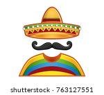 template of vector of man... | Shutterstock .eps vector #763127551