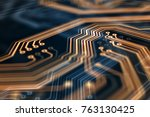 3d Rendering. Circuit Board...
