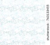 seamless pastel blue pattern... | Shutterstock .eps vector #763133455
