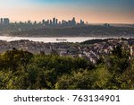 panorama of istanbul and... | Shutterstock . vector #763134901