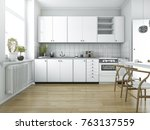 3d rendering scandinavian... | Shutterstock . vector #763137559