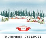 holiday christmas background... | Shutterstock .eps vector #763139791