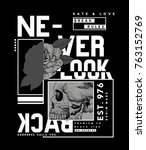 tee print design as vector with ... | Shutterstock .eps vector #763152769
