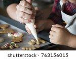 Boy Making Gingerbread Cookies...