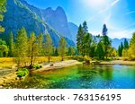 view from yosemite valley in... | Shutterstock . vector #763156195