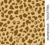 jaguar or leopard skin pattern  ... | Shutterstock .eps vector #763157581