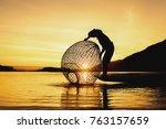 fishermen fishing in the early... | Shutterstock . vector #763157659
