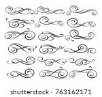 set of decorative elements.... | Shutterstock .eps vector #763162171