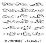 set of decorative elements.... | Shutterstock .eps vector #763162174