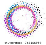 abstract colorful pop art... | Shutterstock . vector #763166959