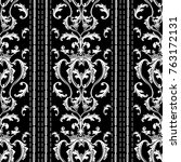 striped baroque seamless... | Shutterstock .eps vector #763172131