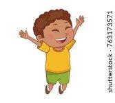 cute schoolboy cartoon   Shutterstock .eps vector #763173571
