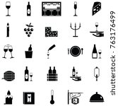 wine icon set | Shutterstock .eps vector #763176499