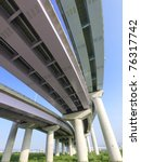 pillars of viaduct | Shutterstock . vector #76317742