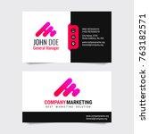 modern business card vector... | Shutterstock .eps vector #763182571