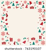 christmas elements with space ... | Shutterstock .eps vector #763190107