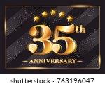 35 years anniversary... | Shutterstock .eps vector #763196047