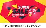 original sale poster for... | Shutterstock .eps vector #763197109
