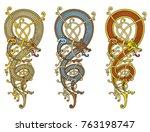 celtic  scandinavian vintage... | Shutterstock .eps vector #763198747
