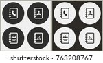 address book   black and white... | Shutterstock .eps vector #763208767
