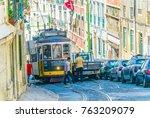 lisbon  portugal  september 2 ... | Shutterstock . vector #763209079