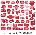 special offer 50   sale banners ... | Shutterstock .eps vector #763209091