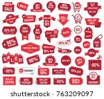special offer 90   sale banners ... | Shutterstock .eps vector #763209097