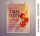 party invitation template... | Shutterstock .eps vector #763212445