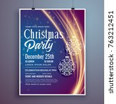 christmas party event... | Shutterstock .eps vector #763212451