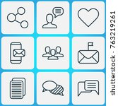 social icons set with connect ... | Shutterstock .eps vector #763219261