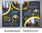 business brochure. flyer design.... | Shutterstock .eps vector #763221514
