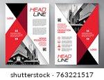 business brochure. flyer design.... | Shutterstock .eps vector #763221517