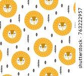 seamless scandinavian pattern.... | Shutterstock .eps vector #763222957