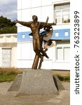 Small photo of ODESSA, UKRAINE - CIRCA 2017: bronze monument to famous Russian bard, poet, composer, actor, singer in Odessa on French Boulevard near Odessa film studio. legendary singer of USSR Vladimir Vusotski