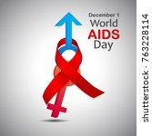 world aids day  world aids day...   Shutterstock .eps vector #763228114