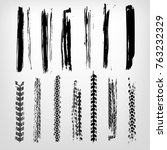 tire imprints  paint  ink brush ... | Shutterstock .eps vector #763232329