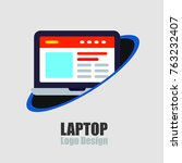 computer and technology  laptop ... | Shutterstock .eps vector #763232407