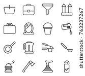 thin line icon set   basket ... | Shutterstock .eps vector #763237267