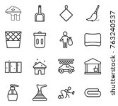thin line icon set   factory... | Shutterstock .eps vector #763240537