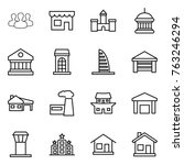 thin line icon set   group ...   Shutterstock .eps vector #763246294