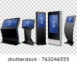 five promotional interactive... | Shutterstock .eps vector #763246555