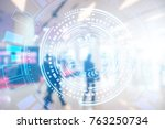 abstract double exposure of...   Shutterstock . vector #763250734