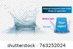 translucent water splash crown... | Shutterstock .eps vector #763252024