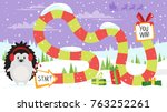vector cartoon style... | Shutterstock .eps vector #763252261