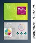 modern vector abstract brochure ... | Shutterstock .eps vector #763254295