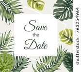 save the date wedding event... | Shutterstock .eps vector #763254964