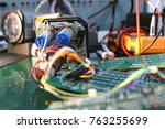 the servos are components of... | Shutterstock . vector #763255699